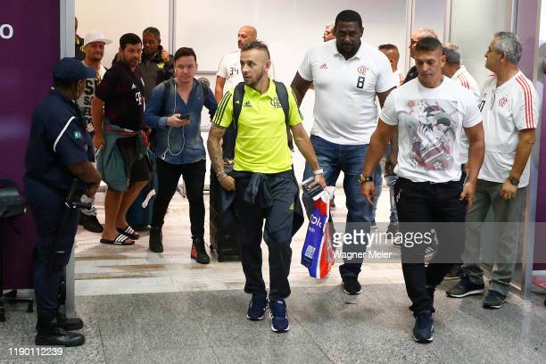Rafinha of Flamengo team arrives in Rio after playing the FIFA Club World Cup Qatar 2019 Final Against Liverpool on December 22 2019 in Rio de...