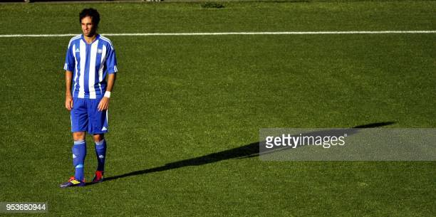 Rafinha reacts after scoring an own goal during the UEFA Champions League third qualifying round, first leg football match HJK Helsinki vs Dinamo...