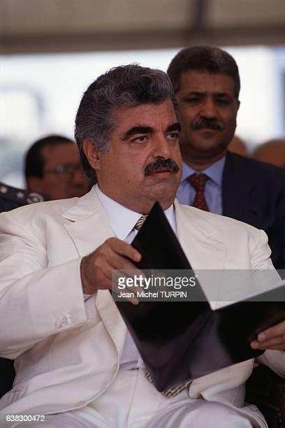 Rafiq Hariri premier ministre à Beyrouth Liban le 17 septembre 1994