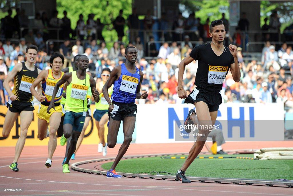 Rafith Rodriguez competes in the 800m during the Seiko Golden Grand Prix Tokyo 2015 at Todoroki Stadium on May 10, 2015 in Kawasaki, Japan.
