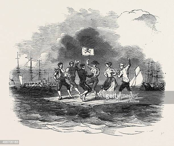 Raft Dance At The Squadron Regatta Cork 1852