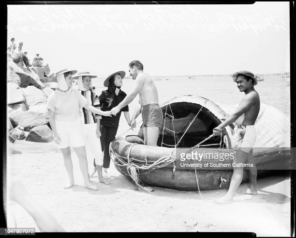 Raft 'Lehi the Fourth' 5 July 1958 Captain Devere Baker 42 yearsTamra Baker 17 years Jacquetta Baker 21 years Mrs Nola Baker Ed Kekaula 27 years Don...
