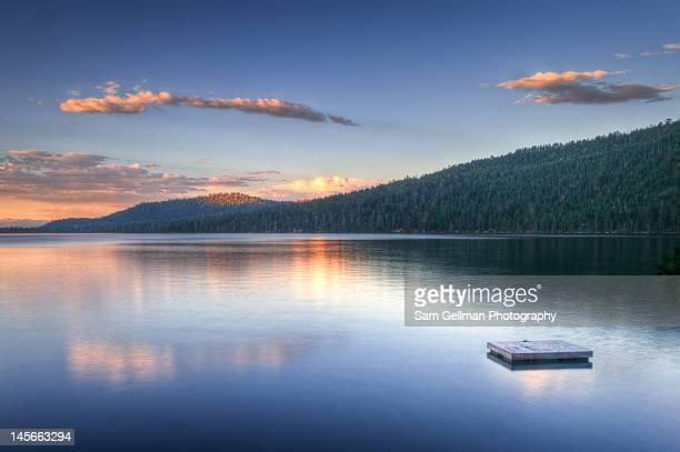 Raft on lake