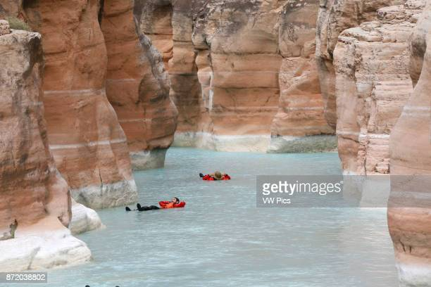 Rafters in Havasu Creek Grand Canyon National Park Arizona United States