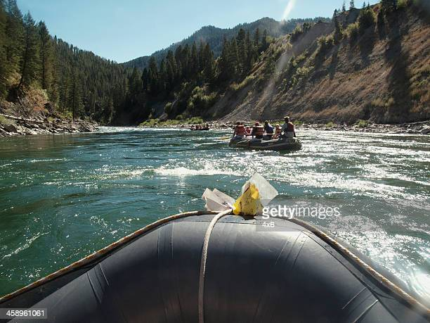 rafting down the snake river, wyoming - jackson hole stock pictures, royalty-free photos & images