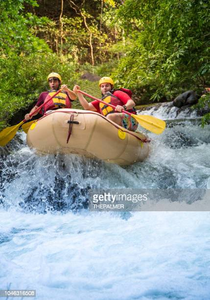 rafting in costa rica - rafting stock pictures, royalty-free photos & images