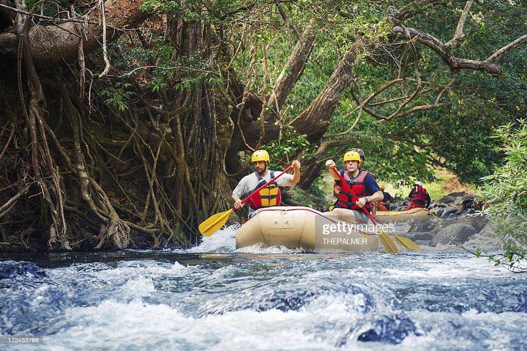 rafting em costa rica : Foto de stock