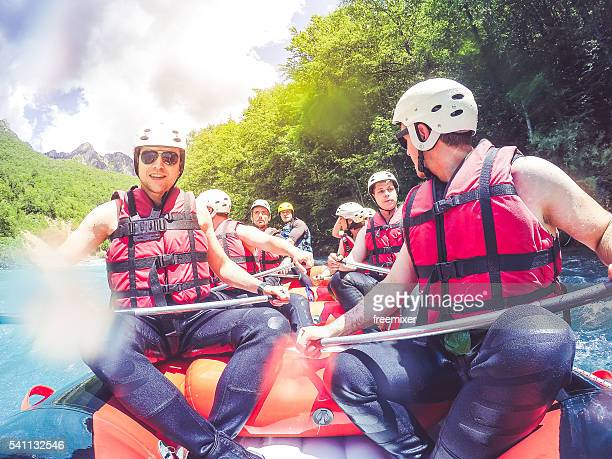 Rafting on a sunny day