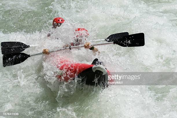 Rafting on White Water