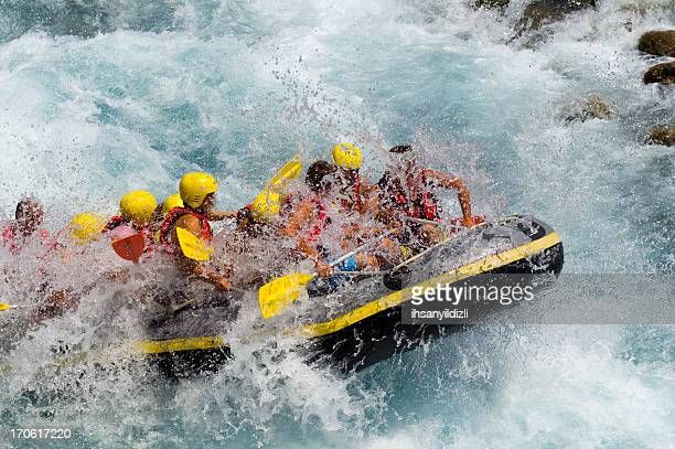 Rafting on White Water