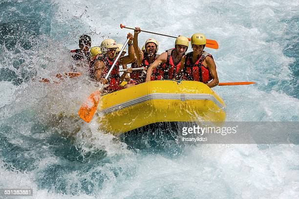 rafting on white water - rafting stock pictures, royalty-free photos & images