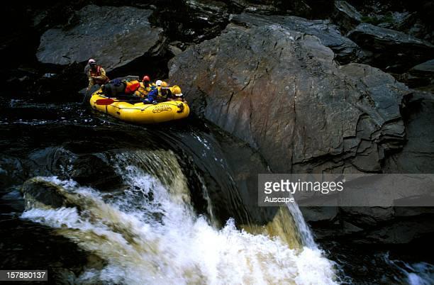 Rafting the Franklin River FranklinGordon Wild Rivers National Park Tasmania Australia