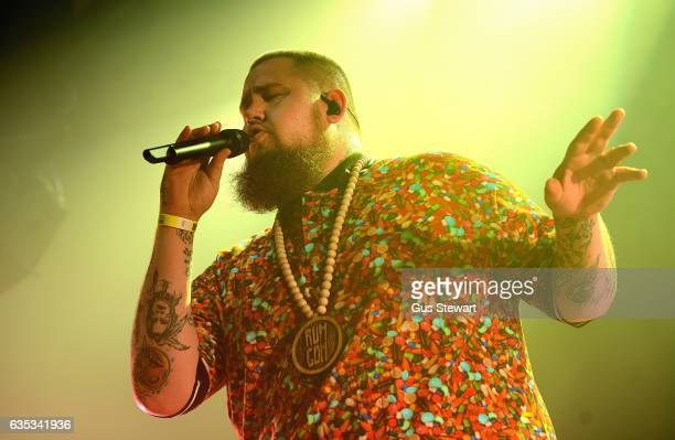 Rag 'n' Bone Man performs on stage at the Clapham Grand to kick start the War Child BRIT's Week of gigs together with O2 on February 14 in London...