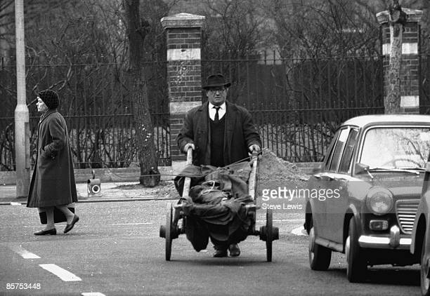 Rag-and-bone man on his rounds in the East End of London, 1960s.