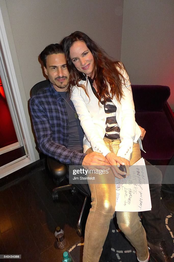 Rage Against the Machine drummer Brad Wilk and actress/singer Juliette Lewis pose for a portrait at Fonogenic Studios in Van Nuys, California on May 23, 2016.