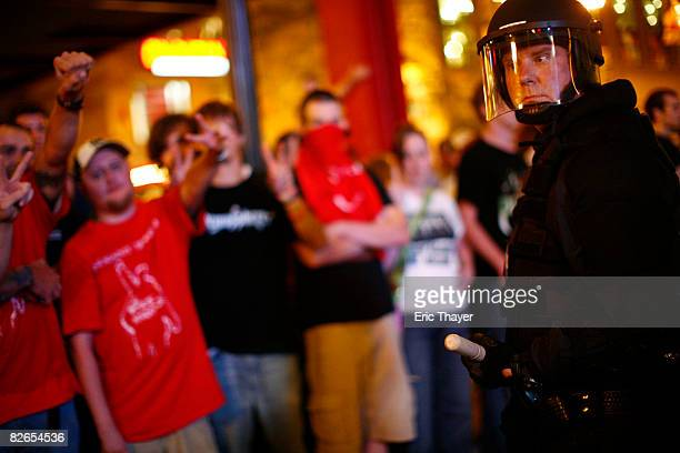 Rage Against The Machine fans protest after a show outside outside the Target Center on September 3 2008 in Minneapolis Minnesota The Republican...