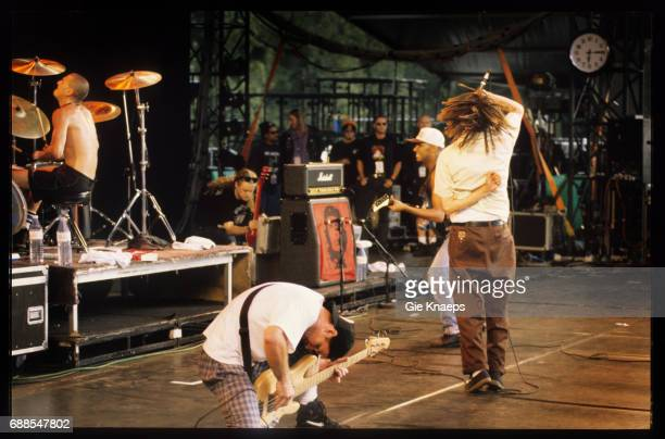 Rage Against The Machine Zack De La Rocha Tim Commerford Brad Wilk Tom Morello Pukkelpop Festival Hasselt Belgium