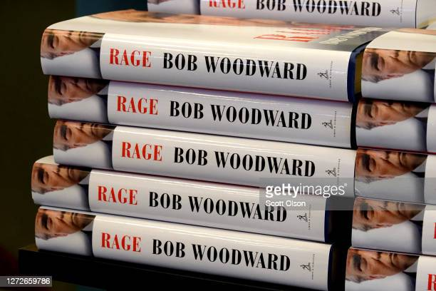 Rage by Bob Woodward is offered for sale at a Barnes Noble store on September 15 2020 in Chicago Illinois The book based on interviews that Woodward...