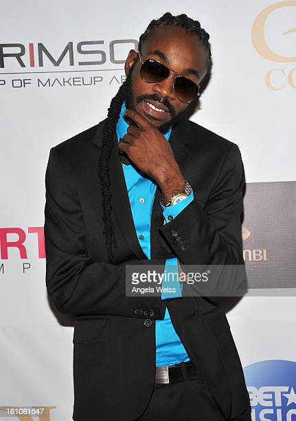 """Raggae artist JR Pinchers arrives at BET Network's Music Matters Showcase """"Lipstick On The Mic"""" at Belasco Theatre on February 8, 2013 in Los..."""