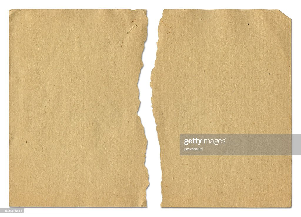 Ragged Old Paper : Stock Photo