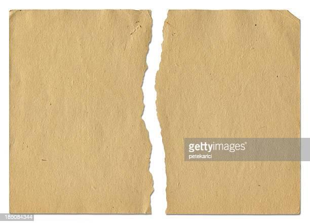 ragged vieux papier - vue partielle photos et images de collection