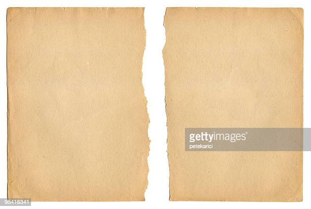 ragged old paper - brown paper stock pictures, royalty-free photos & images