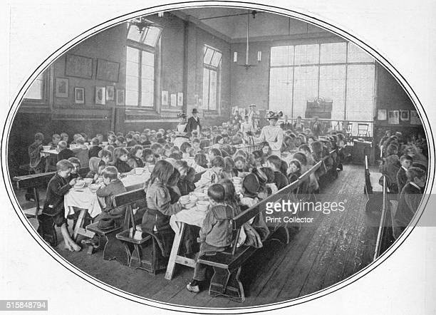 A Ragged School Union dinner Camberwell London circa 1901 Ragged Schools were developed by John Pounds a Portsmouth shoemaker who in 1818 provided a...