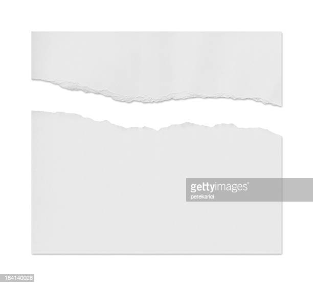 ragged white paper - category:pages stock pictures, royalty-free photos & images
