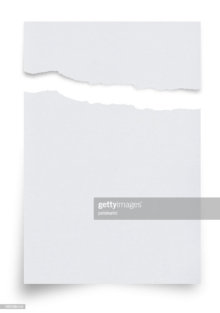 Ragged White Paper : Stock Photo
