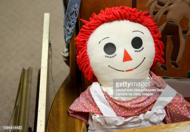 A Raggedy Ann doll for sale at Tables to Teacups flea market 1420 Nelson Rd Wednesday