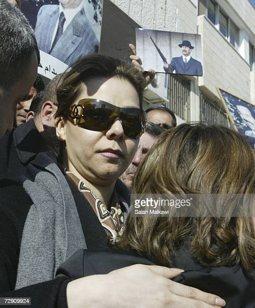 Raghad Hussein the daughter of Saddam Hussein joins Jordanians at a rally protesting the execution of the former Iraqi President at the Associations...