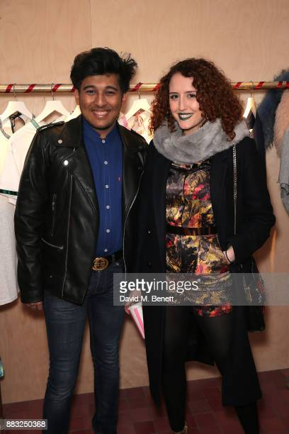 Raghav Tibrewal and Roxanne Henley attends the Cinta The Label launch party at Arty Farty Fashion Party on November 30 2017 in London England