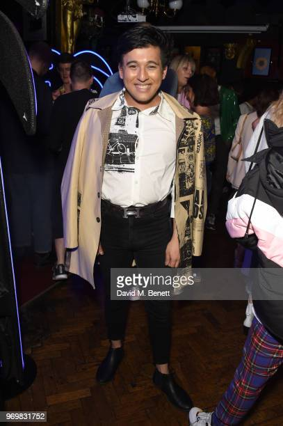 Raghav Tibrewal attends the TOPMAN LFWM party during London Fashion Week Men's June 2018 at the Phoenix Artist Club on June 8 2018 in London England