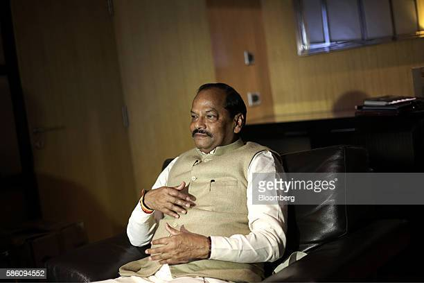 Raghubar Das chief minister of Jharkhand listens during an interview in New Delhi India on Thursday Aug 4 2016 Jharkhand state plans to auction seven...