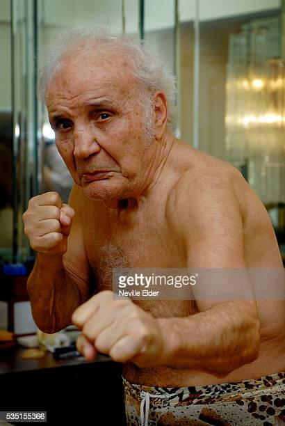 Raging Bull Jake La Motta in his New York Apartment on 57th and 1st New York City Also known as the Bronx Bull La Motta was once middleweight...