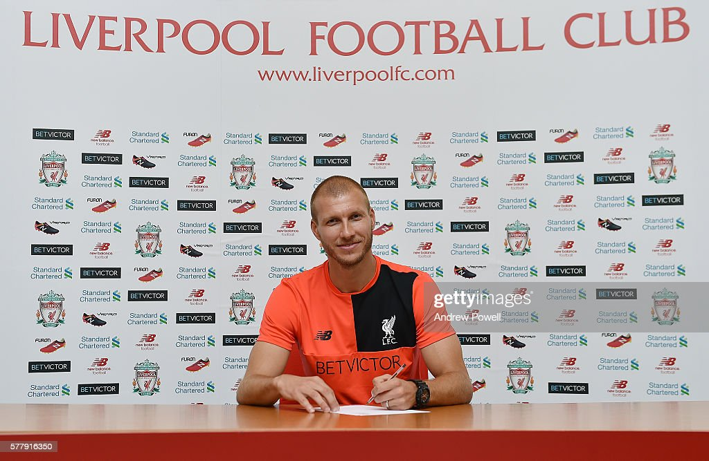 Liverpool Unveil New Signing Ragnar Klavan : News Photo