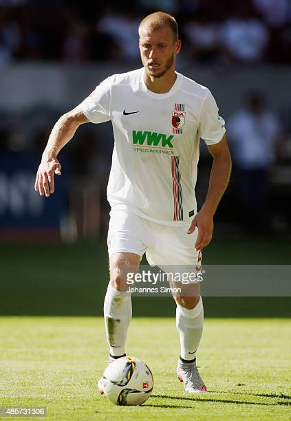 Ragnar Klavan of Augsburg in action during the Bundesliga match between FC Augsburg and FC Ingolstadt at WWK Arena on August 29 2015 in Augsburg...