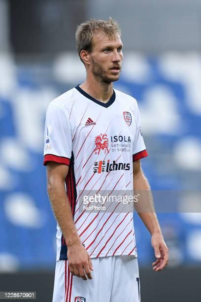 Ragnar Klavan of Cagliari Calcio during the Serie A match between Sassuolo and Cagliari at Mapei Stadium, Reggio Emilia, Italy on 20 September 2020.