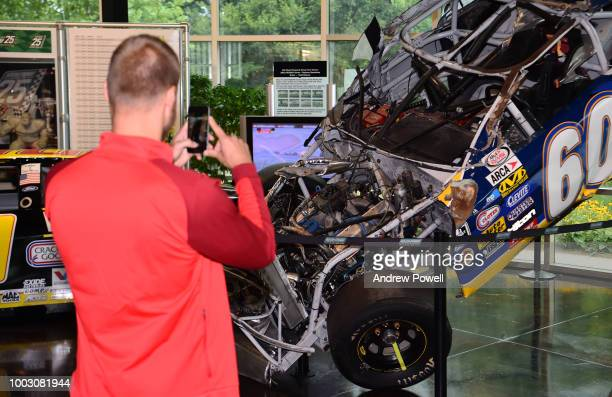 Ragnar Klavan of Liverpool during a tour of Roush Fenway Racing on July 21 2018 in Charlotte North Carolina