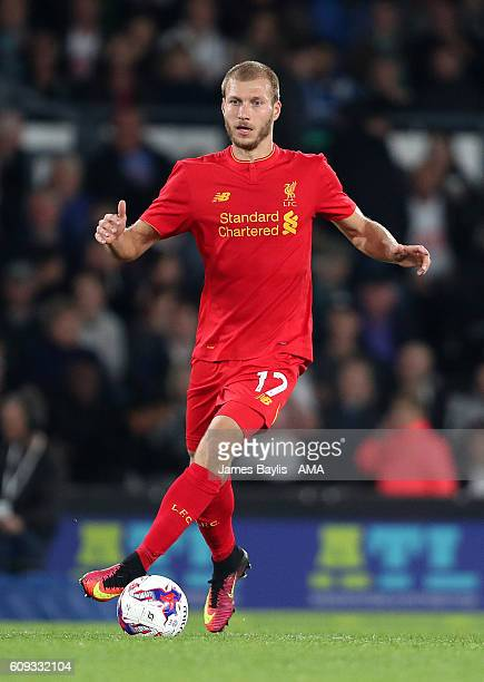 Ragnar Klavan of Liverpool during the EFL Cup Third Round match between Derby County and Liverpool at iPro Stadium on September 20 2016 in Derby...