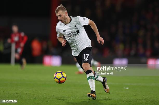 Ragnar Klavan of Liverpool during the Premier League match between AFC Bournemouth and Liverpool at Vitality Stadium on December 17 2017 in...