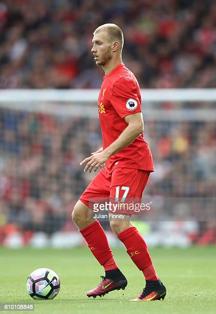 Ragnar Klavan of Liverpool in action during the Premier League match between Liverpool and Hull City at Anfield on September 24 2016 in Liverpool...