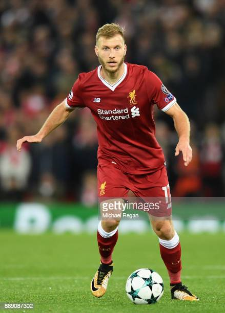 Ragnar Klavan of Liverpool in action during the UEFA Champions League group E match between Liverpool FC and NK Maribor at Anfield on November 1 2017...