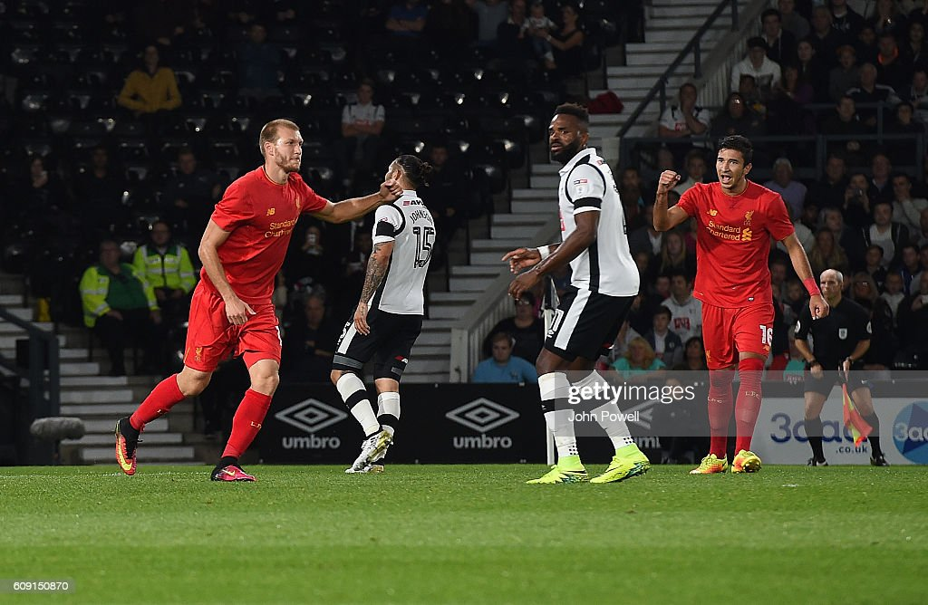 Derby County v Liverpool - EFL Cup Third Round : News Photo