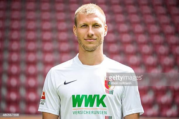Ragnar Klavan poses during the FC Augsburg Team Presentation at WWK-Arena on July 8, 2015 in Augsburg, Germany.