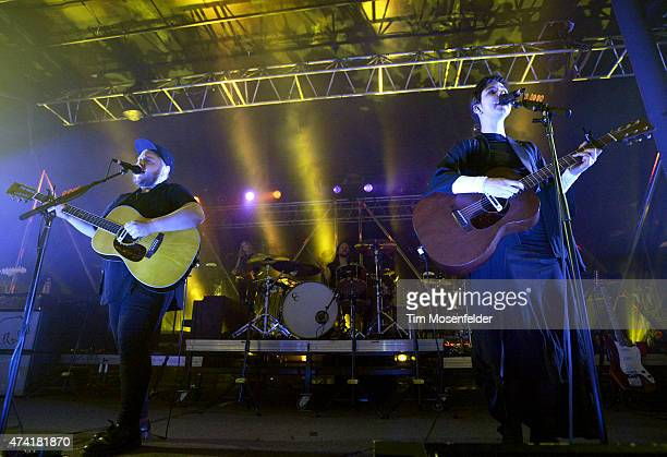Ragnar Porhallsson and Nanna Bryndís Hilmarsdottir with Of Monsters and Men perform in advance of the band's Beneath the Skin release at Roseland...