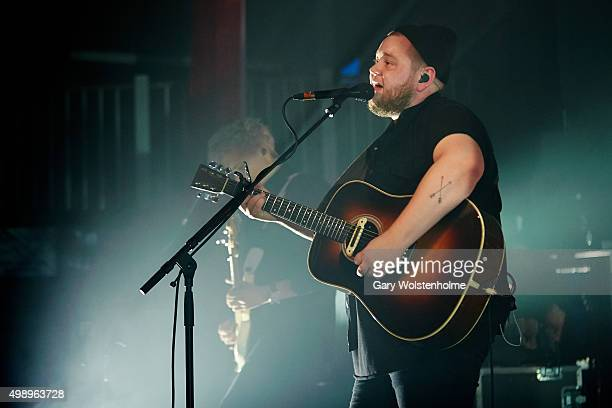 Ragnar Porhallsson from Of Monsters And Men performs at O2 Academy Sheffield on November 27 2015 in Sheffield England