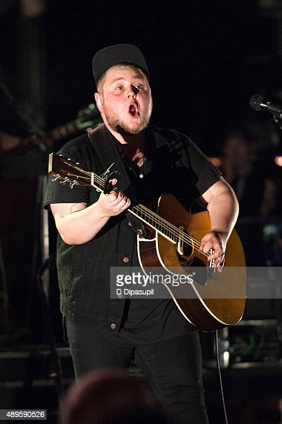 Ragnar Porhallsson of Of Monsters And Men performs onstage at The Beacon Theatre on September 22 2015 in New York City