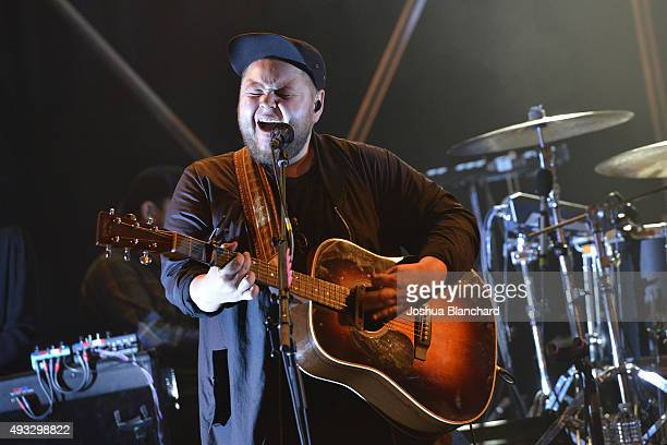 Ragnar Porhallsson performs at the Of Monsters and Men benefit concert for MusiCares at the El Rey Theater on Sunday, October 18 in Los Angeles. For...
