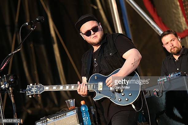 Ragnar Porhallsson with Of Monsters and Men performs in concert on day 3 of the 2nd weekend of Austin City Limits Music Festival at Zilker Park on...